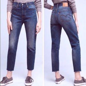 Levi's 501 High Rise Raw Hem Jeans